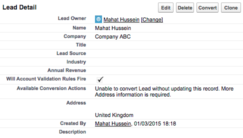 Lead Validation 7